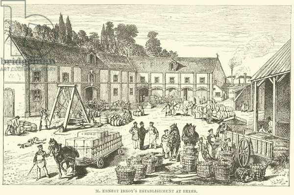 M Ernest Irroy's establishment at Reims (engraving)