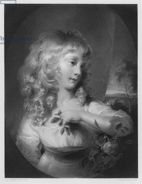 The Princess Amelia, from the picture in the Royal Collection (engraving)