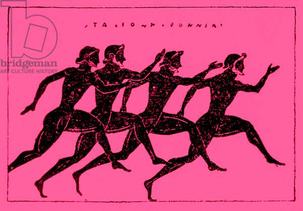 Race, illustration from 'History of Greece' by Victor Duruy, 1890 (digitally enhanced image)