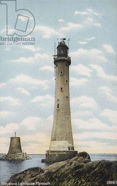 Eddystone Lighthouse, Plymouth (coloured photo)