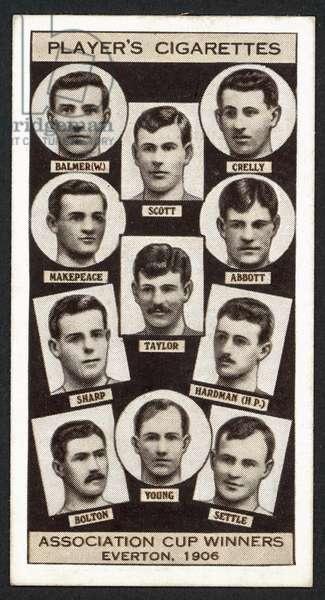 Association Cup Winners, Everton, 1906 (litho)