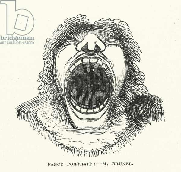 Fancy portrait - M Brunel (engraving)