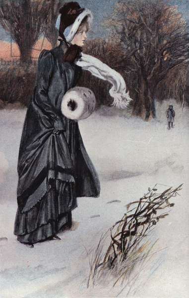 Illustration for Shirley by Charlotte Bronte (colour litho)