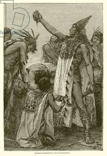 Human Sacrifice Quetzalcoatl (engraving)