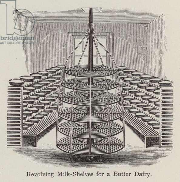 Revolving Milk-Shelves for a Butter Dairy (litho)