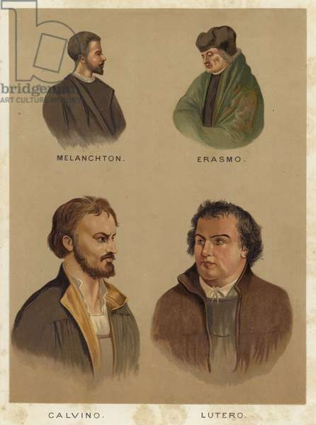 Important personalities of the Christian Reformation (chromolitho)