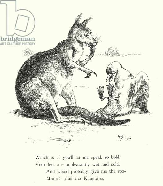 The Duck And The Kangaroo (engraving)