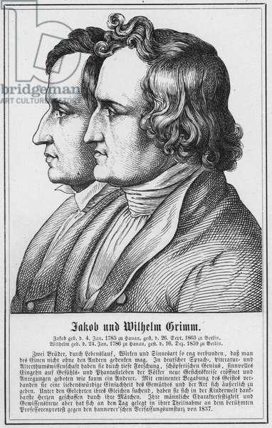 Jacob und Wilhelm Grimm (engraving)