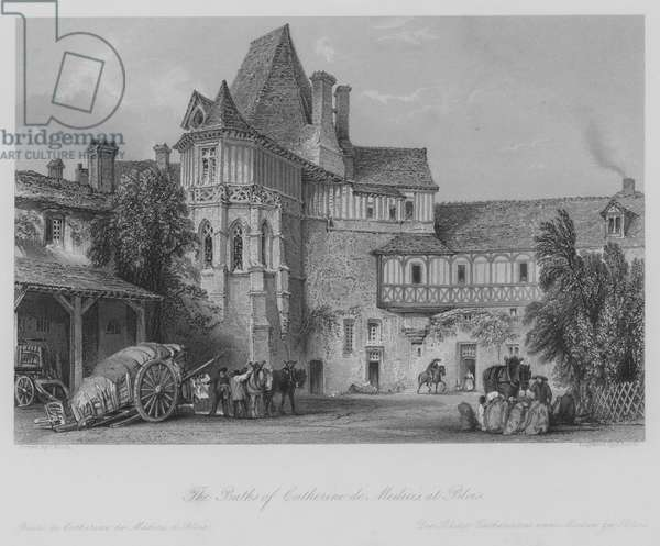 The Baths of Catherine de Medicis, at Blois (engraving)
