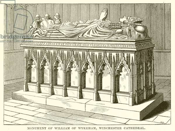 Monument of William of Wykeham, Winchester Cathedral (engraving)