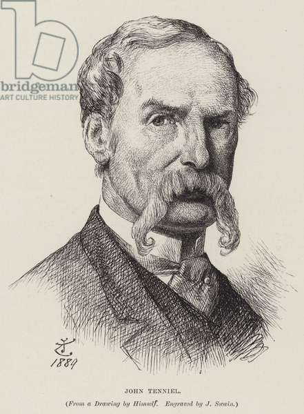 John Tenniel, British cartoonist (engraving)