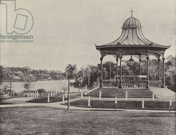 Botanical Gardens, Adelaide (b/w photo)