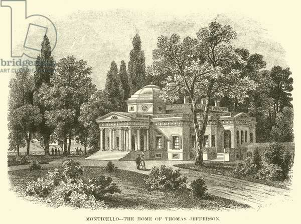 Monticello, the Home of Thomas Jefferson (engraving)
