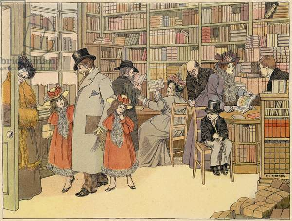 Bedford's Book of Shops: Bookseller (colour litho)