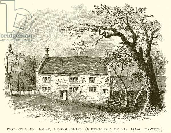 Woolsthorpe House, Lincolnshire (Birthplace of Sir Isaac Newton) (engraving)