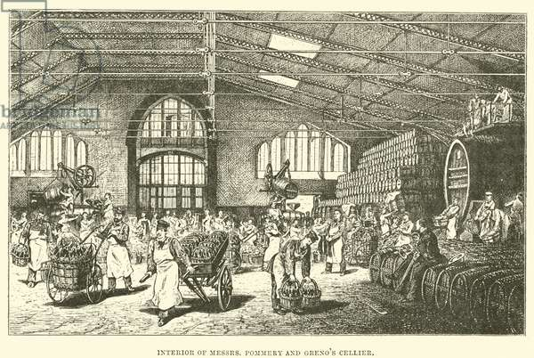 Interior of Messrs Pommery and Greno's Cellier (engraving)