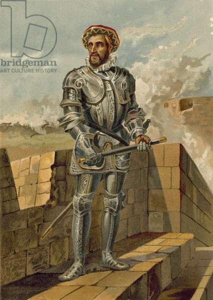 Antonio de Leiva, Spanish general during the Italian Wars (chromolitho)