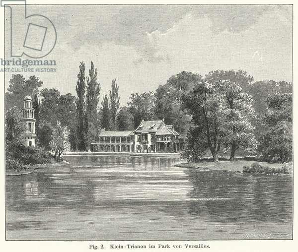 Garden design: Petit Trianon, Versailles, France (engraving)