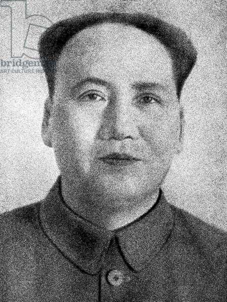 Mao Zedong, or Chairman Mao (b/w photo)