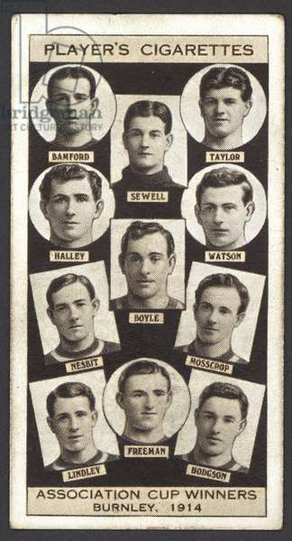 Association Cup Winners, Burnley, 1914 (litho)
