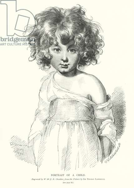 Portrait of a child (engraving)