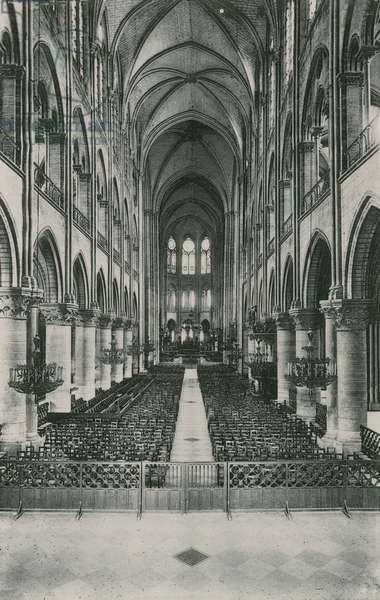 La Nef de l'Eglise Notre-Dame, Nave of the Church Notre-Dame (photogravure)