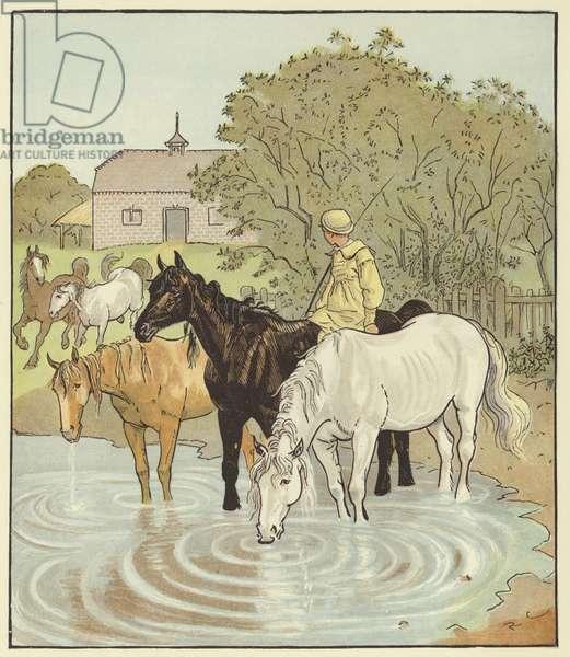 The Farmer's Boy (colour litho)