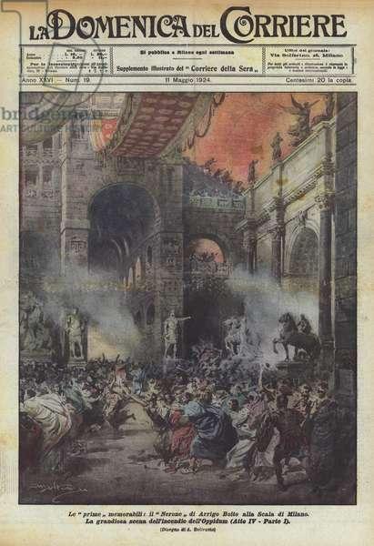 Le prime memorabili, il Nerone di Arrigo Boito alla Scala di Milano (colour litho)