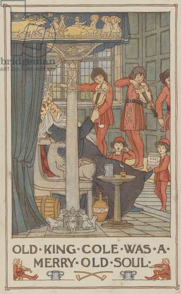 Old King Cole was a merry old soul (colour litho)