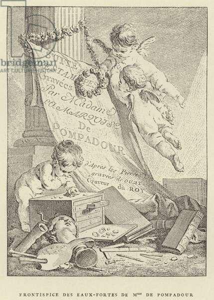 Frontispice des eaux-fortes de Mme de Pompadour (engraving)