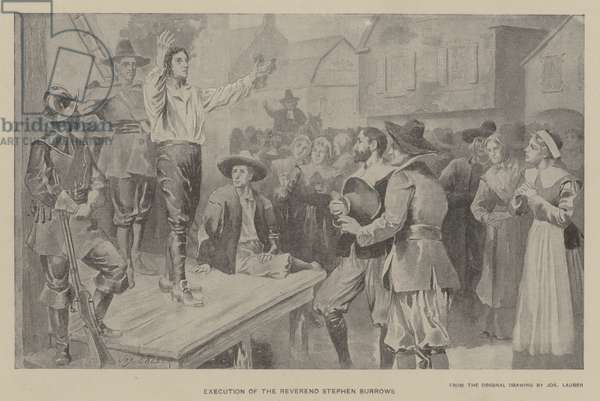 Execution of the Reverend Stephen Burrows (litho)
