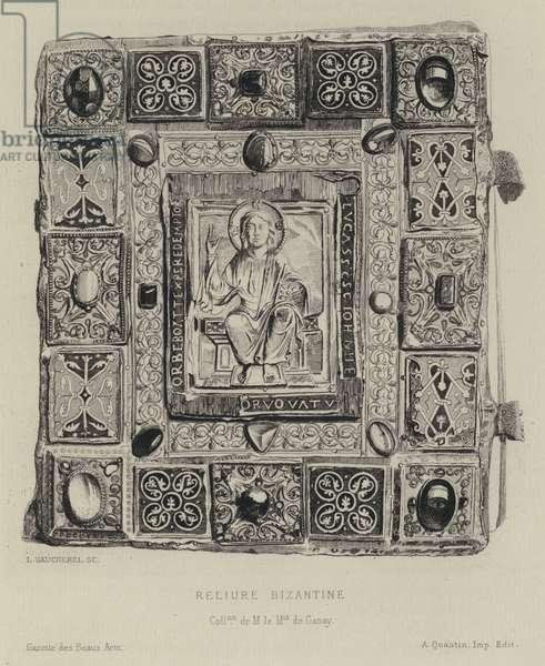 Byzantine bookbinding (engraving)