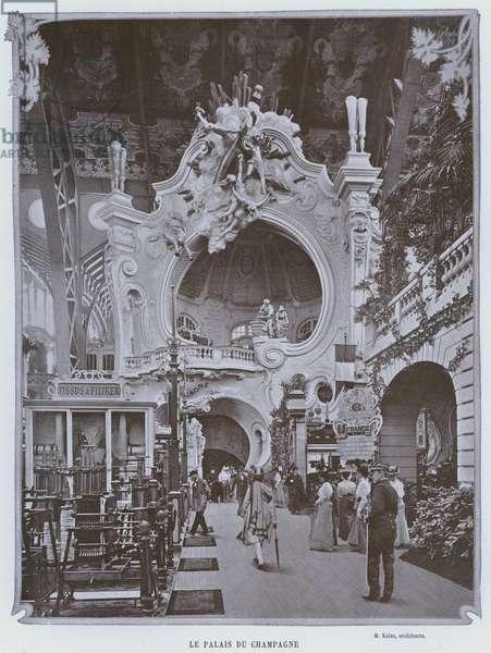 Le Palais Du Champagne (b/w photo)
