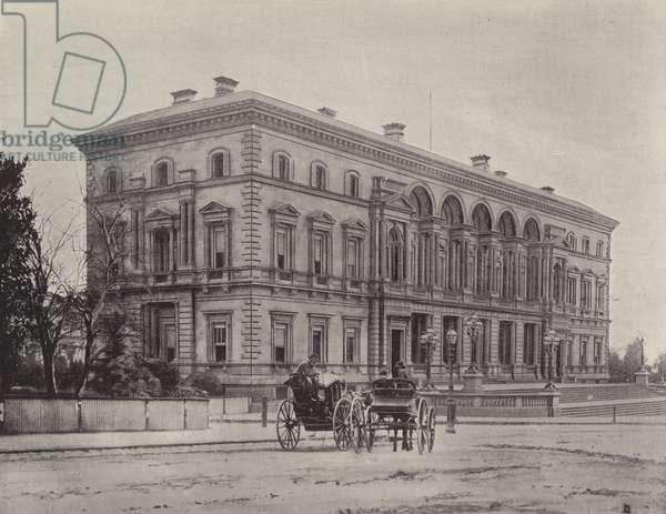 The Treasury Buildings, Melbourne (b/w photo)