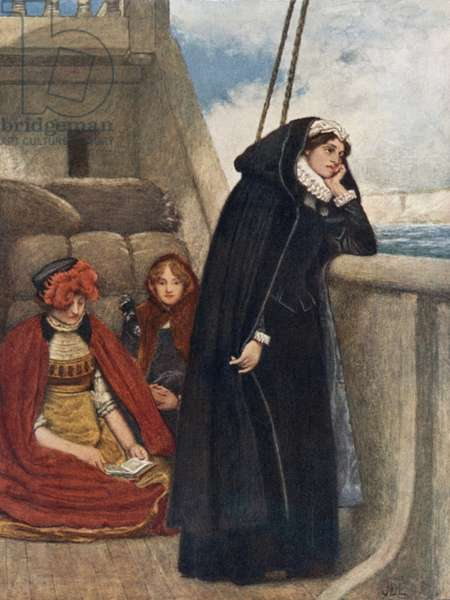 Mary Sails from France: Her Farewell to that Country