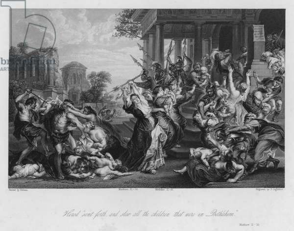 The Massacre of the Innocents, Matthew II, 16 (engraving)