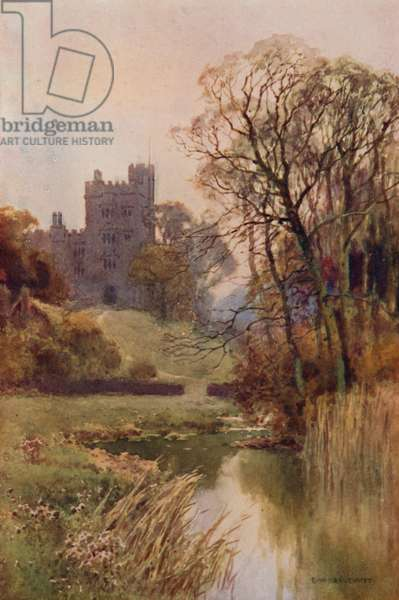 Haddon Hall (colour litho)