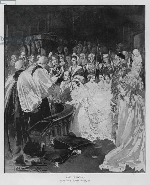 The wedding of Queen Victoria and Prince Albert (litho)