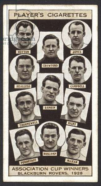 Association Cup Winners, Blackburn Rovers, 1928 (litho)