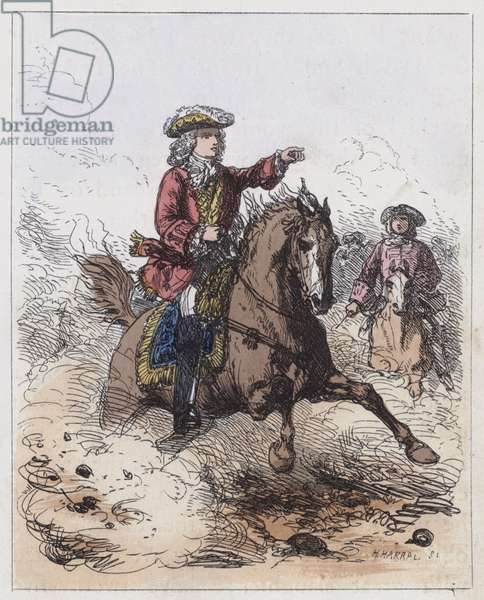Marlborough at Blenheim (coloured engraving)