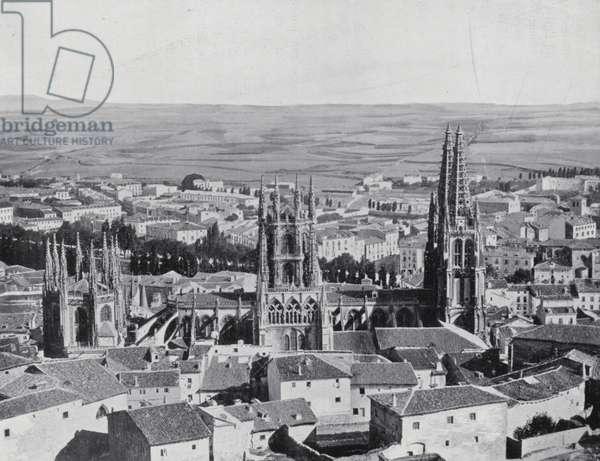 General view of Burgos (b/w photo)
