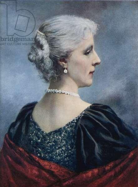 Marie Henriette, Queen of the Belgians (colour litho)