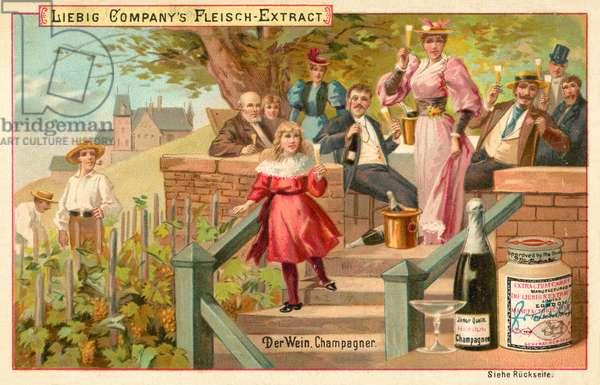 Wine: Champagne (chromolitho)