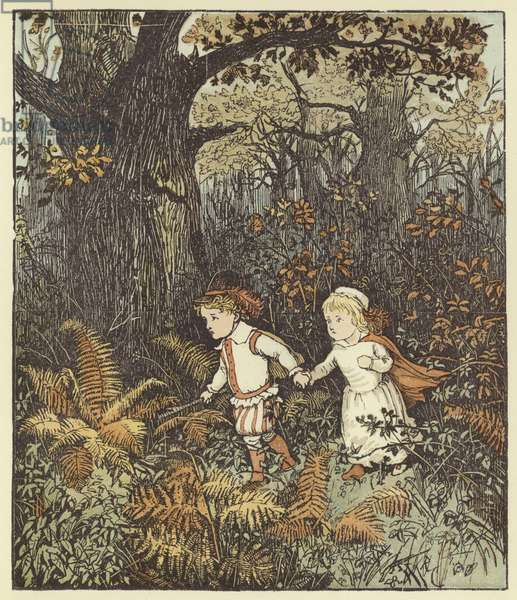 The Babes In The Wood (colour litho)