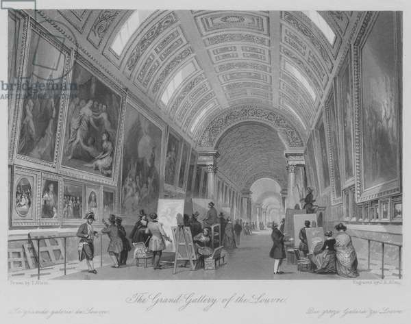 The Grand Gallery of the Louvre (engraving)