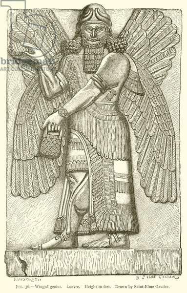 Winged Genius. Louvre (engraving)