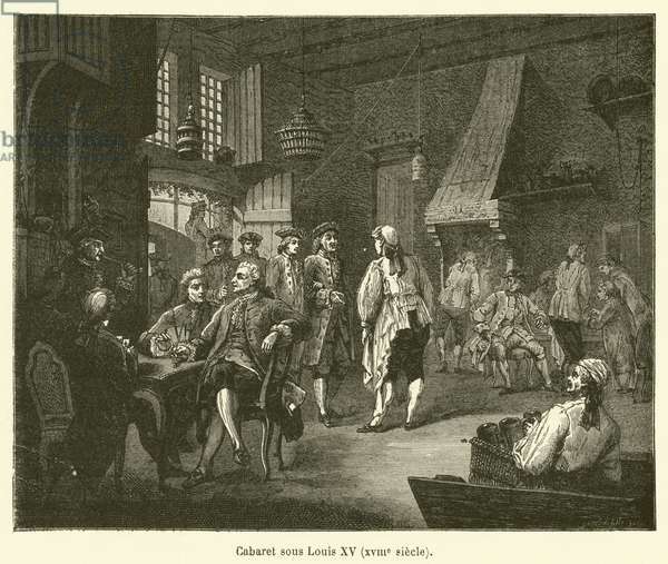 Cabaret sous Louis XV, XVIIIe siecle (engraving)