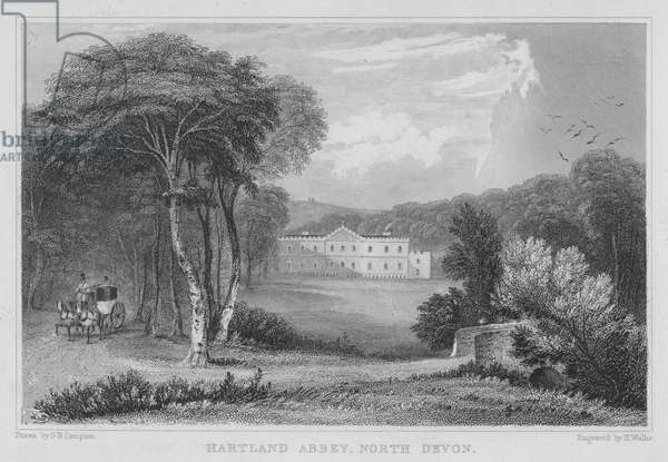 Hartland Abbey, North Devon (engraving)
