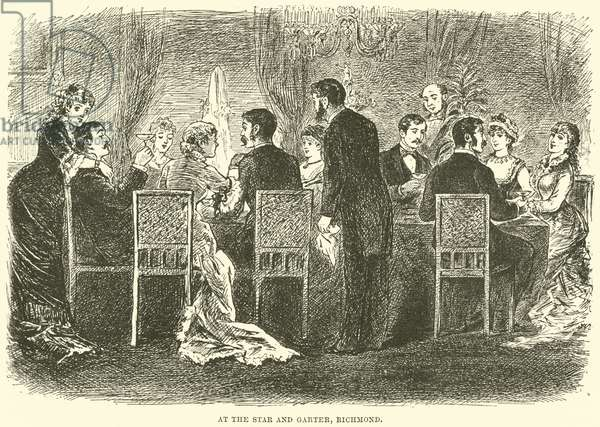 At the Star and Garter, Richmond (engraving)
