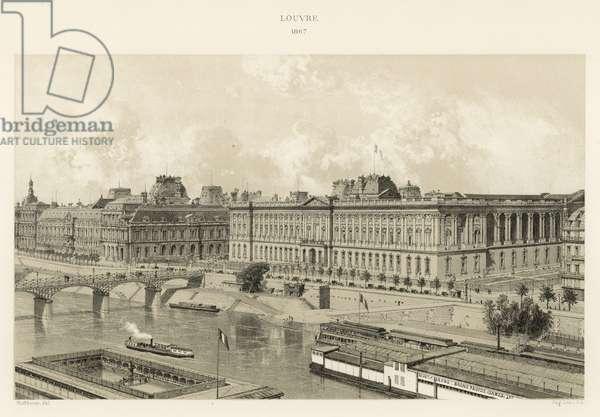 Louvre, 1867 (colour litho)